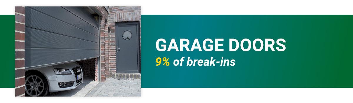 garage doors are 34% of break ins entries